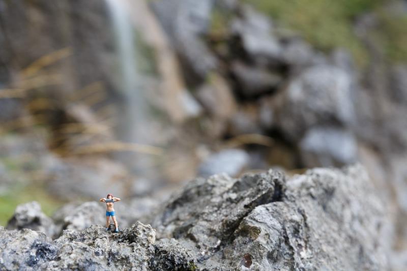At Schleierwaterfall near Ellmau (Tirol)