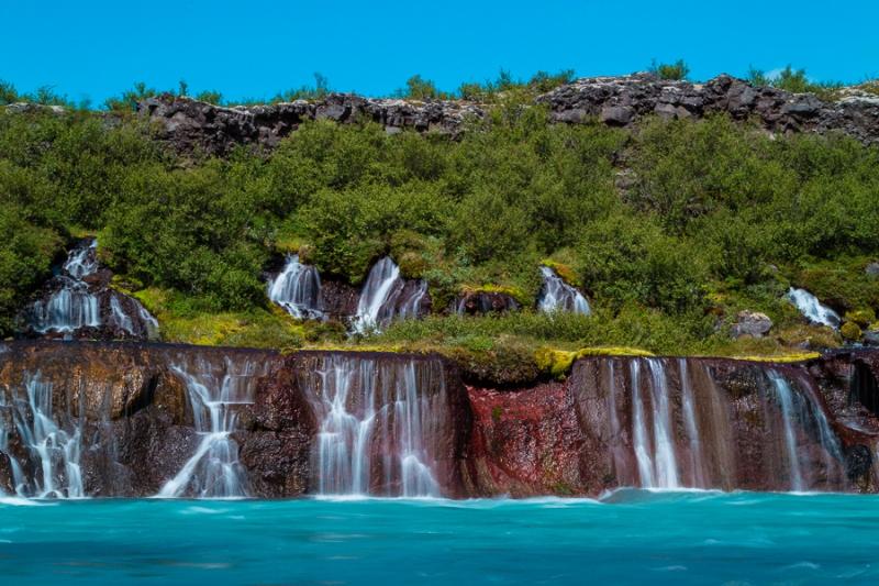 Island 2011 - Hraunfossar